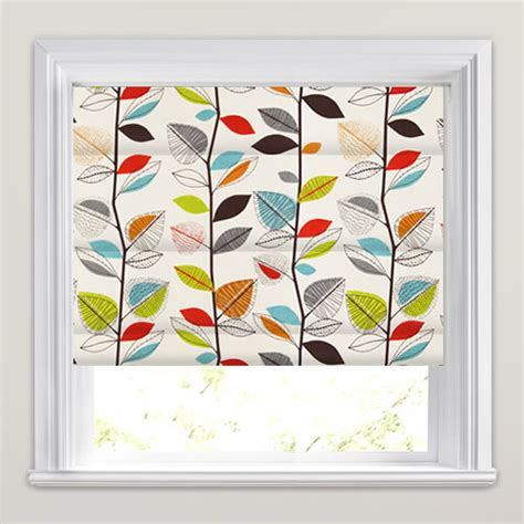 Funky Kitchen Blinds Uk Blackout Blinds Funky Leaves Orange Lime