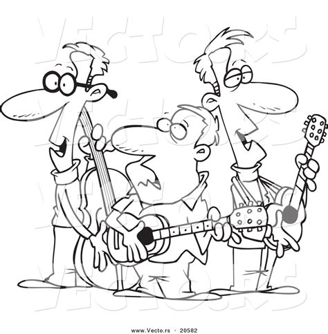 blues music coloring pages vector of a cartoon folk music band coloring page