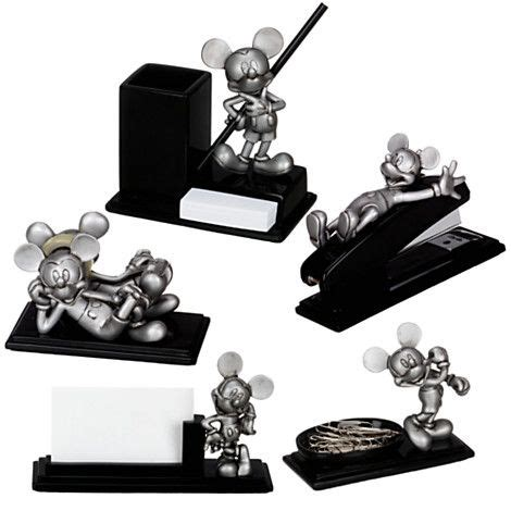 mickey mouse desk accessories pewter mickey mouse desk set 5 pc on sale disney
