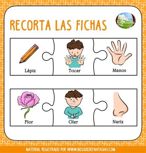 imagenes infantiles sobre los sentidos cuadernillo puzzle de los sentidos para primaria