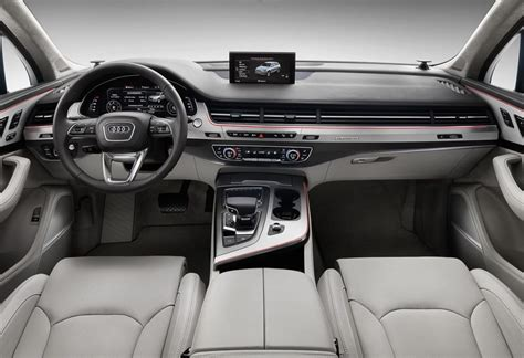 interior layout of audi q7 prestige specs