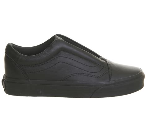 Black Master Leather Size 39 45 vans skool laceless black mono leather hers trainers