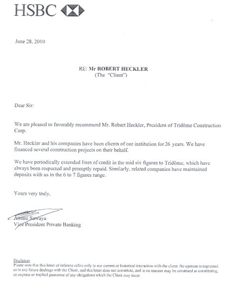 Bank Letter Of Recommendation Sle Nos R 233 F 233 Rences Trid 244 Me