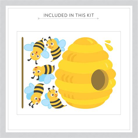 bee wall stickers honey bees printed wall decal