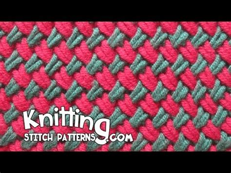 how to change colors when knitting in the two color woven plait stitch