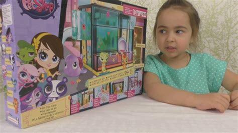little pet shop house little pet shop opened a new house pet shop house lps lps open new toys youtube