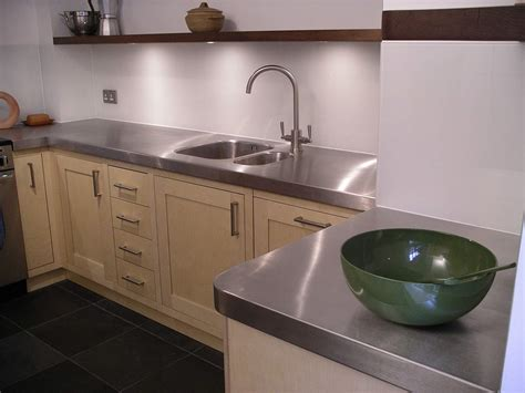 custom built birch ply  stainless steel kitchen