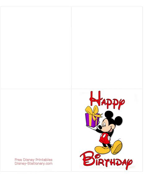 printable disney cards mickey mouse gt printable birthday card gt disney stationary