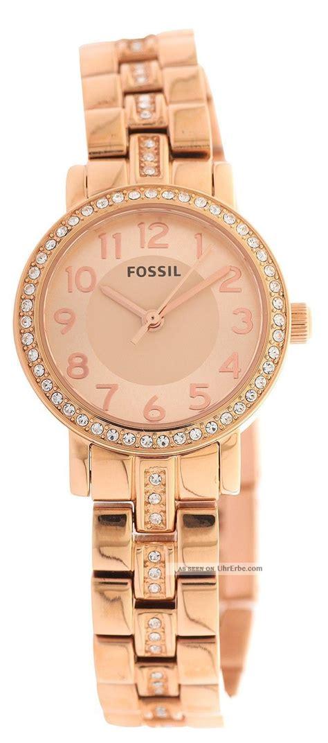 fossil damen armbanduhr gold bq1430