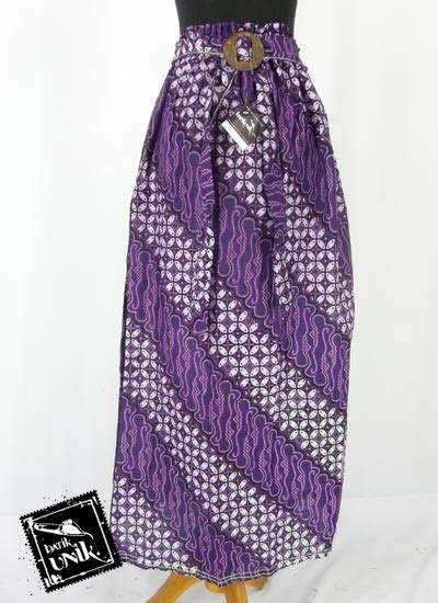 Rok Plisket Parang rok panjang batik motif parang kawung nikir bawahan