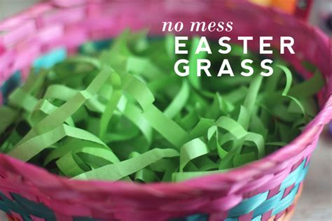 How To Make Grass Out Of Tissue Paper - no mess easter grass
