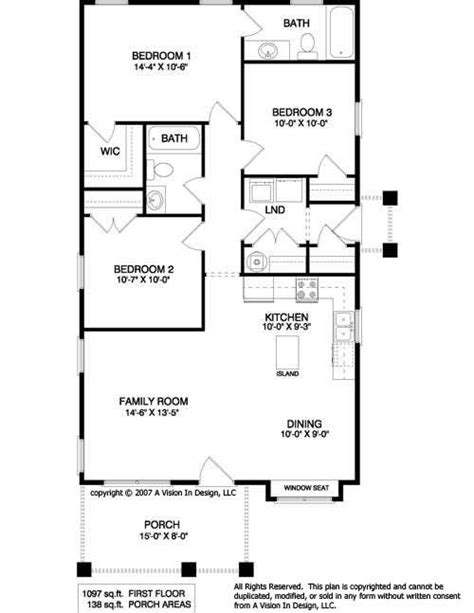 3 bedroom cabin plans simple floor plans ranch style small ranch home plans