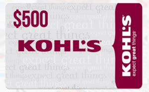 Kohls E Gift Card - enter to win a 500 kohls gift card coupon closet