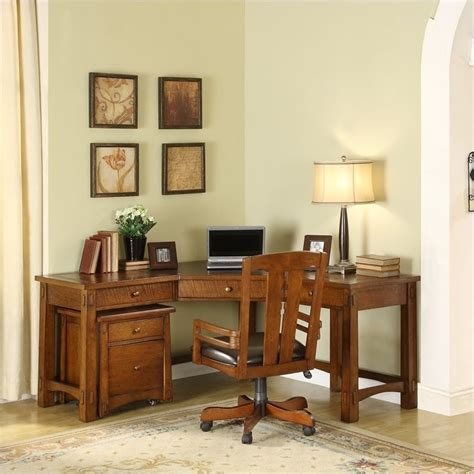 riverside furniture craftsman home corner workstation oak