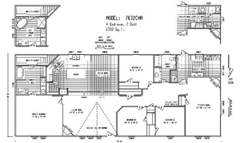 5 bedroom double wide floor plans quadruple wide mobile home floor plans 5 bedroom 3