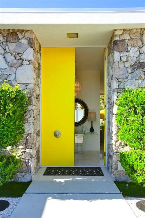 bright yellow door 50 modern front door designs