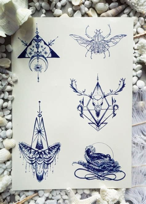 indigo henna tattoo indigo temporary sticker set f hummingbird quotes