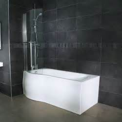 1675mm Shower Bath Whirlpool 1675mm Left Hand P Shaped Shower Bath With 6
