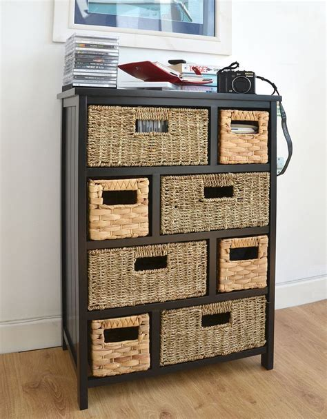 tetbure large storage unit black chest of drawers with