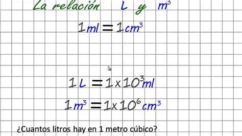 libro litros y litros de lecciones de qu 237 mica conversi 243 n de unidades cuantos litros tiene un metro c 250 bico youtube