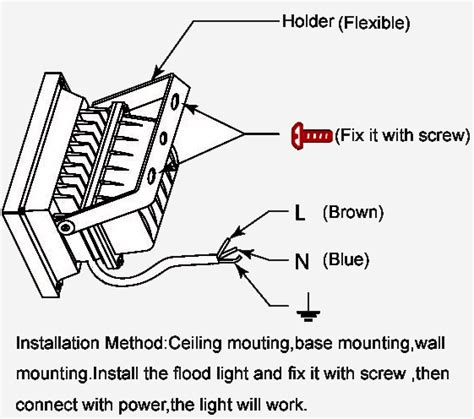 wiring diagram for led flood lights repair wiring scheme