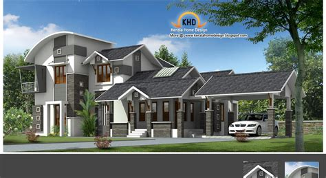 home plan and elevation 2222 sq ft kerala house design idea
