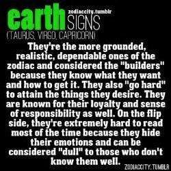 earth element taurus virgo capricorn astrology