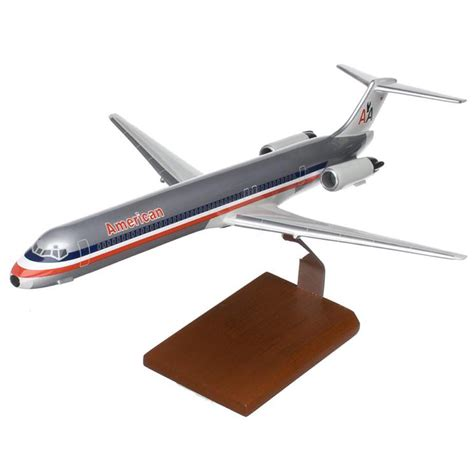 commercial model planes md 80 american model aircraft 1 100 scale civilian model