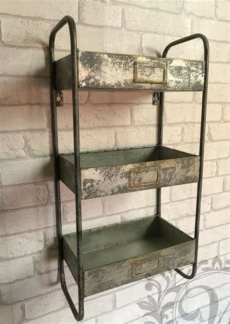 Cupboard Shelving - retro vintage industrial style metal shelves shelf storage