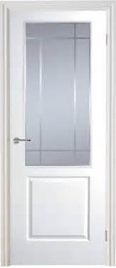 White Glass Door Half Light Manhattan Smooth Moulded White Door