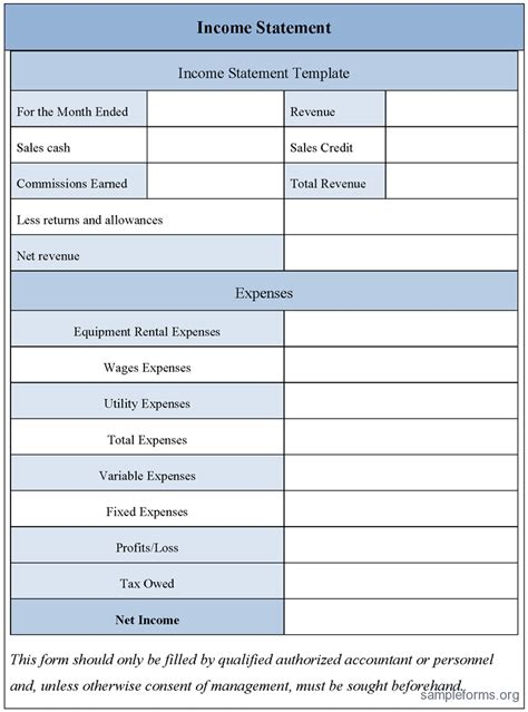statement template free excel income statement template 2 simple income
