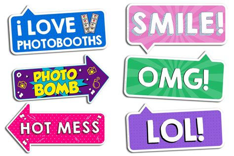 printable neon photo booth props photo booth prop signs photobooth901