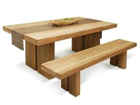 Wooden Kitchen Tables With Benches Real Wood Dining Table Review Homesfeed