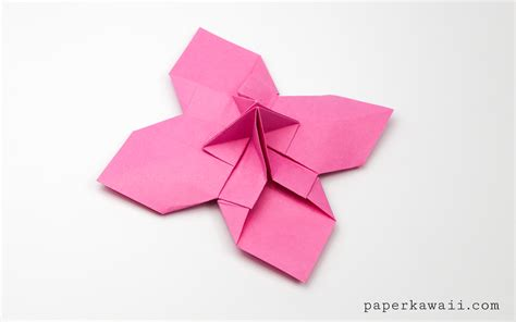 Origami Bud - origami flower card holder paper kawaii