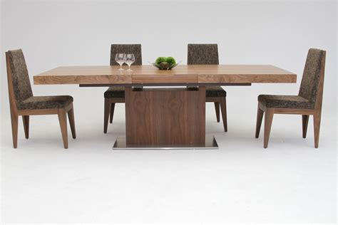 zenith modern walnut extendable dining table