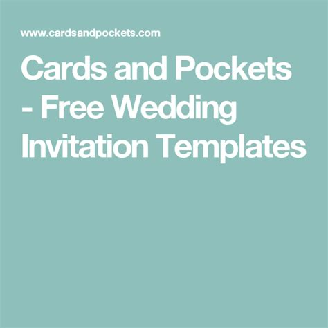 Cards And Pockets Free Templates by Cards And Pockets Free Wedding Invitation Templates