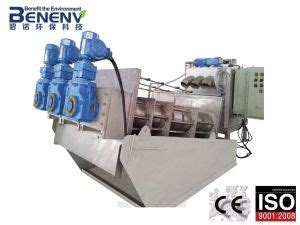 china multi disc filter for china multi disk press sludge dewatering machine mds313 china sludge dewatering