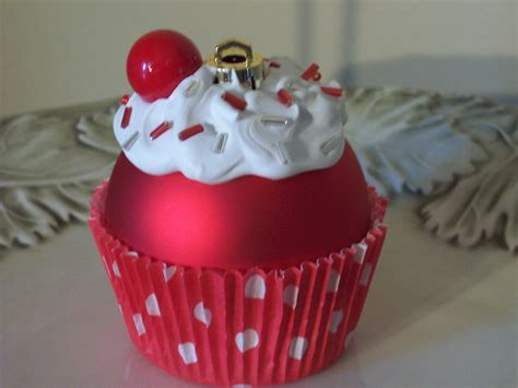 christmas ornament cupcake ornament by littlepunkinmunkie