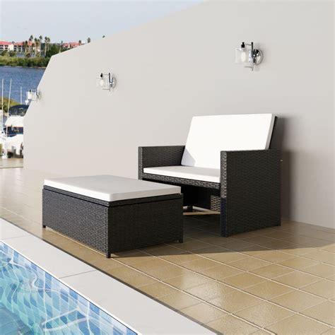 rattan sofa bed furniture vidaxl 3 in 1 sofabed set folding rattan sofa bed