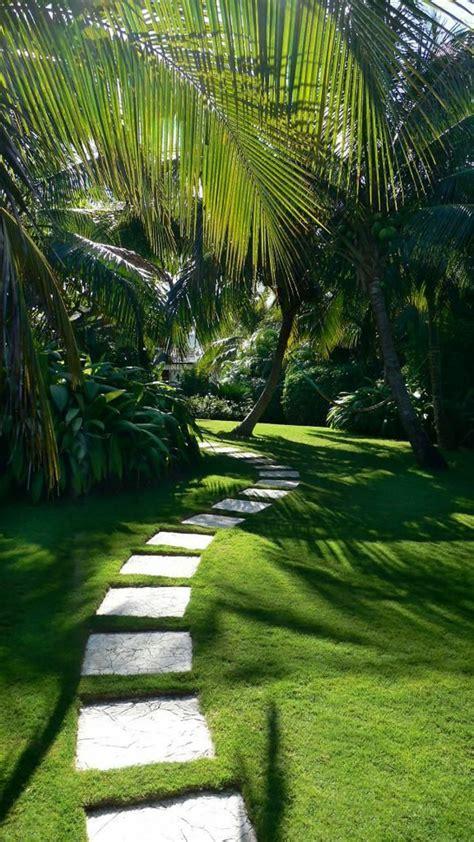 Superbe Mini Jardin D Interieur #3: All%C3%A9e-de-jardin-dalles-et-pelouse.jpg