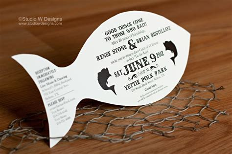fish wedding invitations 82 best images about fishing catch weddings