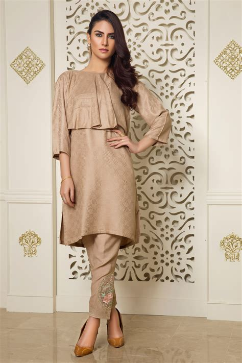 coffee colored dress ready to wear coffee colored self jacquard dress for