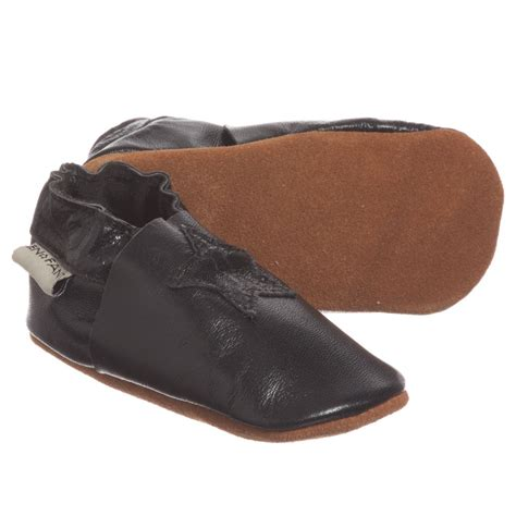 black slipper shoes en fant black leather slipper shoes childrensalon