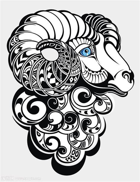山羊纹身手稿内容图片分享