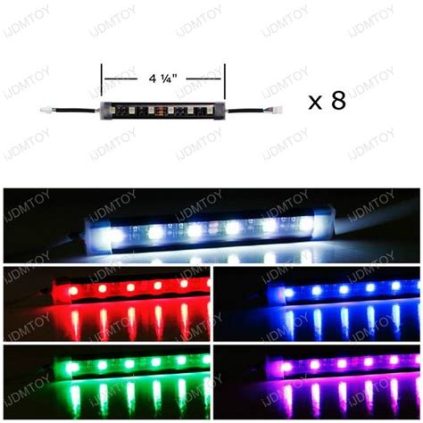 multi color led lighting kit 48 led rgb multi color truck bed cargo area led lighting kit