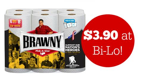 Who Makes Brawny Paper Towels - brawny paper towels coupon makes it 3 90 at bi lo