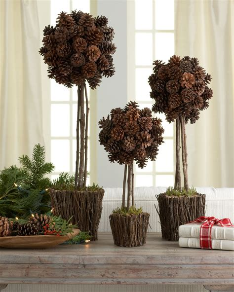 three quot alpine quot pine cone topiaries šišky pinterest pine cone topiary and pine