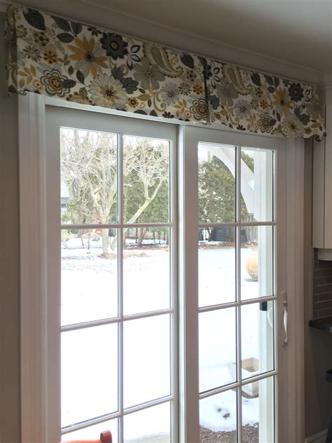 Sliding Glass Door Valance Sliding Door Valance Home Design And Decor