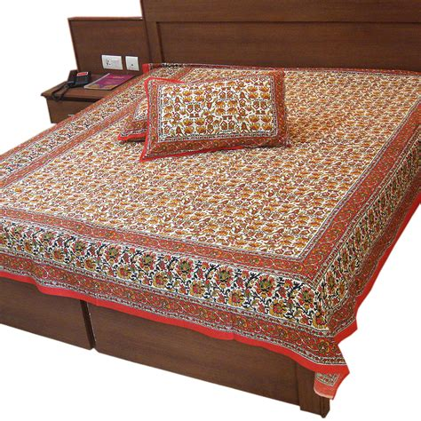 double bed sheets buy cushion cover bedsheets sanganeri fine print cotton