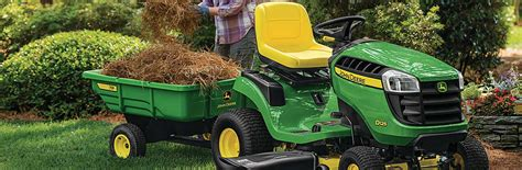 using mowers and lawn tractors for a lawn